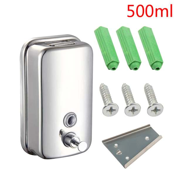 chrome finish soap/shampoo dispenser mounted shower/bathroom model
