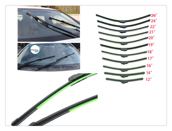 Auto parts windshield wiper U-shaped without bracket rubber for Porsche Macan Cayenne 911 Panamera Mission image
