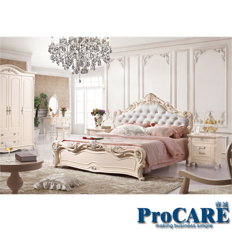 luxury european royal style white solid wood hand carved modern princess  bedroom furniture set from foshan. Princess Bedroom Set For Sale   makitaserviciopanama com