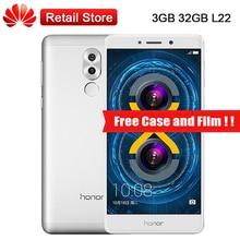 Mondiale Huawei Honor 6X3 GB RAM 32 GB ROM L22 LTE Smartphone 5.5 «Kirin 655 Octa Core Double Caméras Arrière 12.0MP 1920×1080 3340 mAh