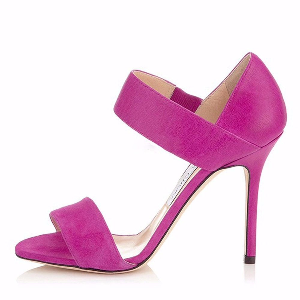 ФОТО 2016 new fashion stiletto high heel women shoes solid purple ladies sandals slip-on customize Free shipping pumps big size4-15