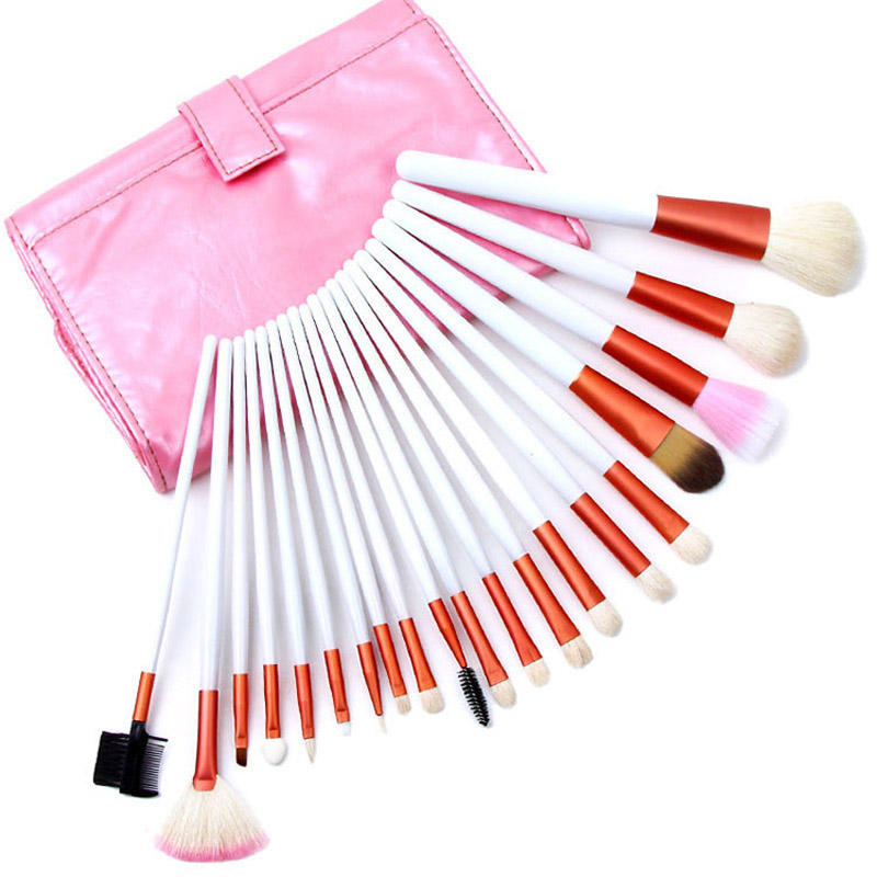 brush Makeup Tool Professional Make up brushes Set facial face Cosmetic eyebrow Brush Kit Make up Brushes case Roll up Bag