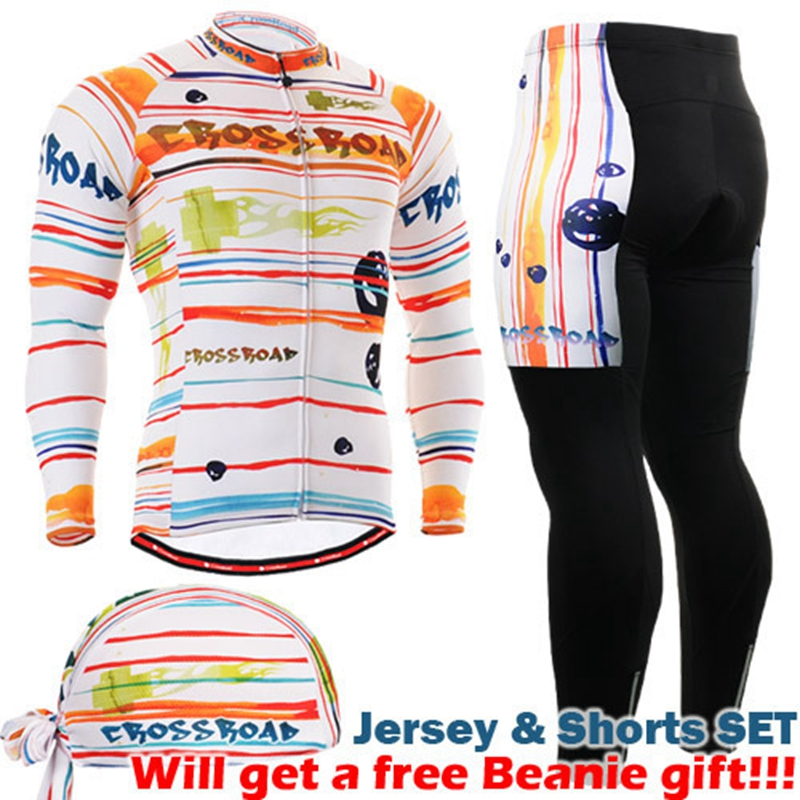 Life on Track Cycling Jersey Long Sleeves Sets Spring Bike Wear Breathable Bicycle Clothing Riding Outdoor Sports 3D Padded