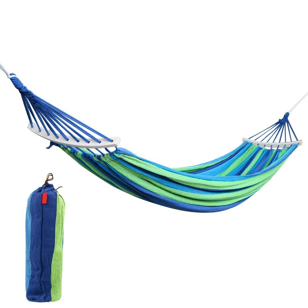 double 2 person cotton fabric canvas travel hammocks 450lbs ultralight camping hammock with hardwood spreader bar in storage bags from home  u0026 garden on     double 2 person cotton fabric canvas travel hammocks 450lbs      rh   aliexpress