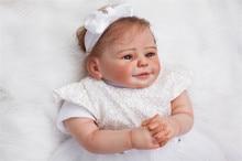 50cm 100% handmade Soft Body Silicone Reborn Baby Doll Lifelike Princess Newborn Baby-Reborn Birthday Gift Brinquedos boneca