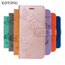 KDTONG Case For Coque Samsung Galaxy J6 2018 Flip Leather Magnetic Wallet Cover Phone Bag