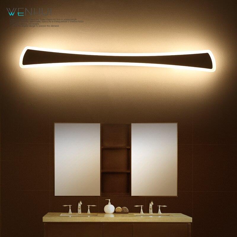 haixiang led specchio bagno luce impermeabile lampada da parete moderno 15 w 23 w acrilico wc illuminazione 85 265 v bianco cald