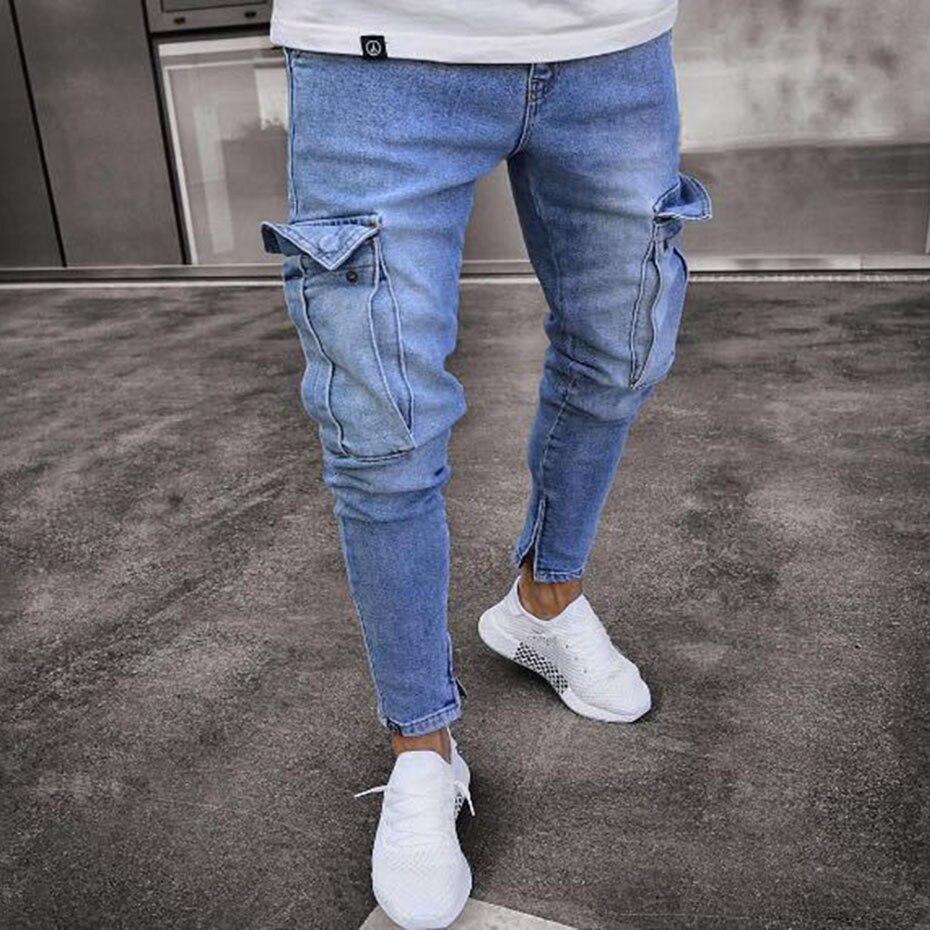 Hete Verkoop Zogaa Angst Van Goud Mode Mannen Jeans Hip Hop Cool Streetwear Biker Patch Gat Ripped Skinny Jeans Slim Fit Heren Kleding Jeans Om Een Hoge Bewondering Te Winnen En Is Op Grote Schaal Vertrouwd Thuis En In Het Buitenland.