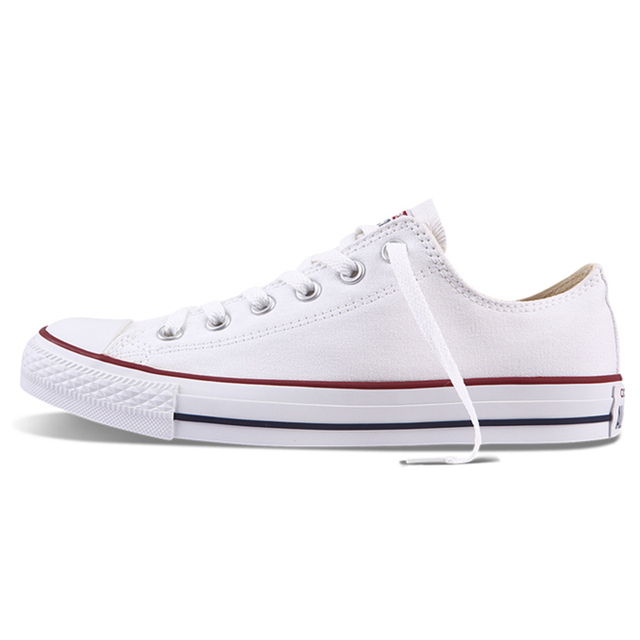 Authentic Converse ALL STAR Classic Breathable Canvas Low-Top Skateboarding Shoes Unisex Anti-Slippery Sneakers for Young Men 1