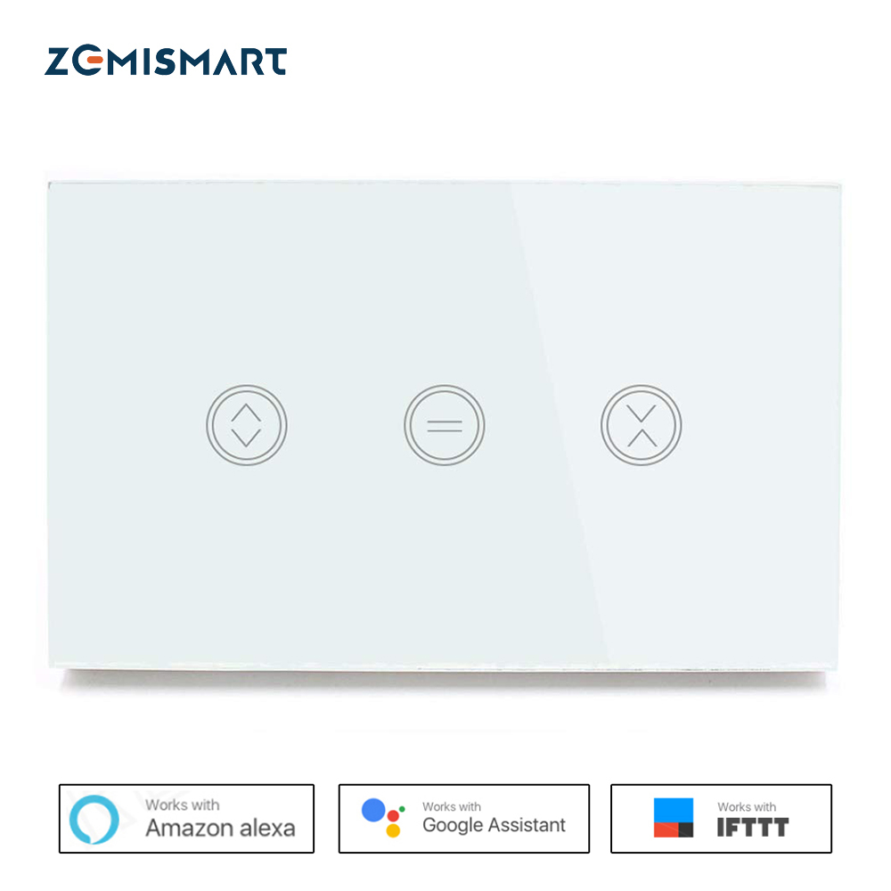 US Type Curtain Wall Switch WiFi Control Via APP Or Voice Control By Siri Alexa Google Home Smart Home With Feedback