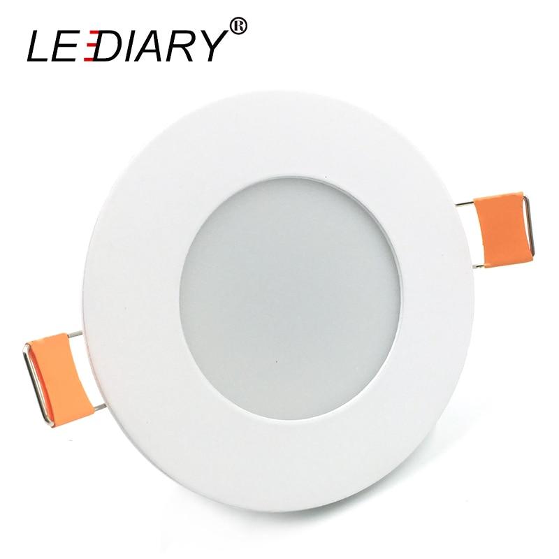 Светодиодный IARY 220 В Круглый Встраиваемые Светодиодный светильник 68-80 мм Вырезать отверстие Размеры светодиодный пятна 3 Вт /5 Вт для потолка...