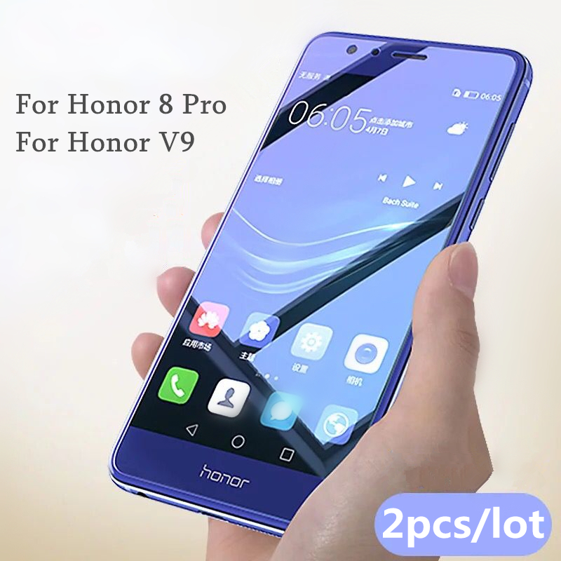 2Pcs/lot Full Tempered Glass For Huawei Honor 8 Pro Honor V9 Screen Protector 0.26mm 9H Explosion-proof Glass For honor V9/8 pro