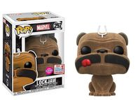 2017 NYCC Exclusive Funko Pop Official Marvel LockJaw Flocked Dog Vinyl Action Figure Collectible Model Toy