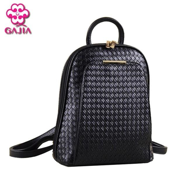 1db91bb518ade أزياء بسيطة نمط المرأة حقائب عالية الجودة والجلود حقائب مدرسية حقيبة ماركة  تصميم الإناث 2017 حقيبة