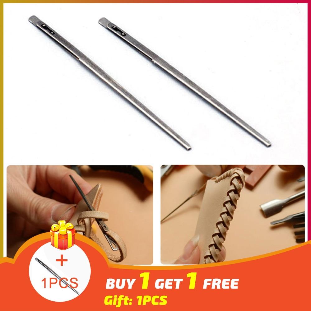 New 1pcs DIY leather sewing craft tool leather knitting needle double hole leather rope lace needle