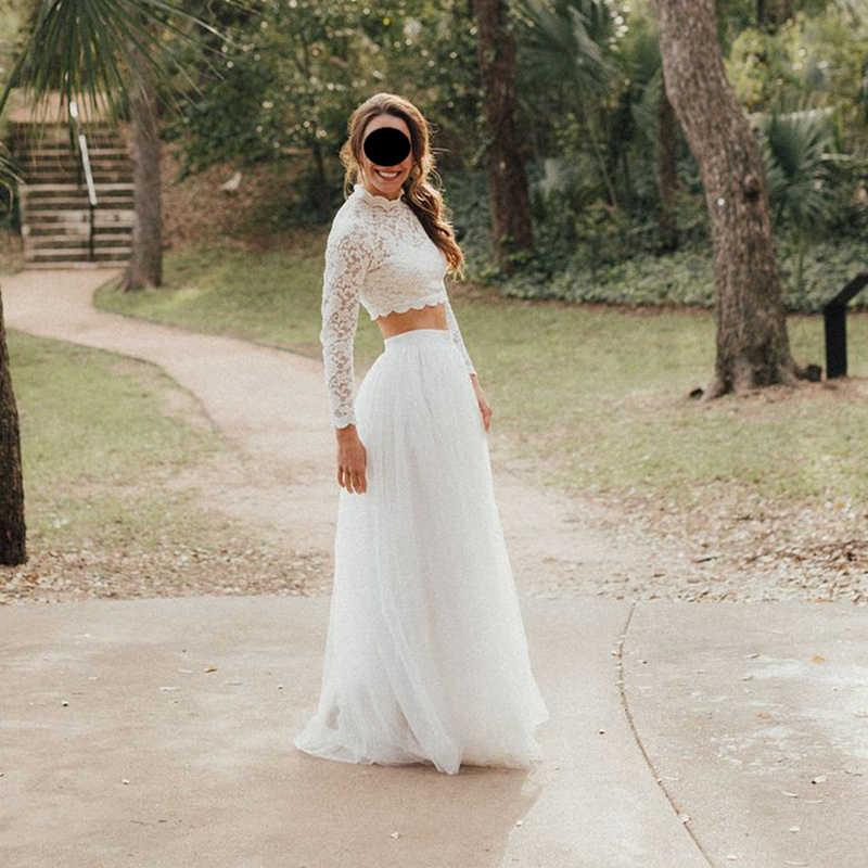 4 capas 100cm faldas de longitud hasta el suelo para las mujeres elegante falda de tul plisada de cintura alta dama de honor vestido de baile ropa de dama de honor