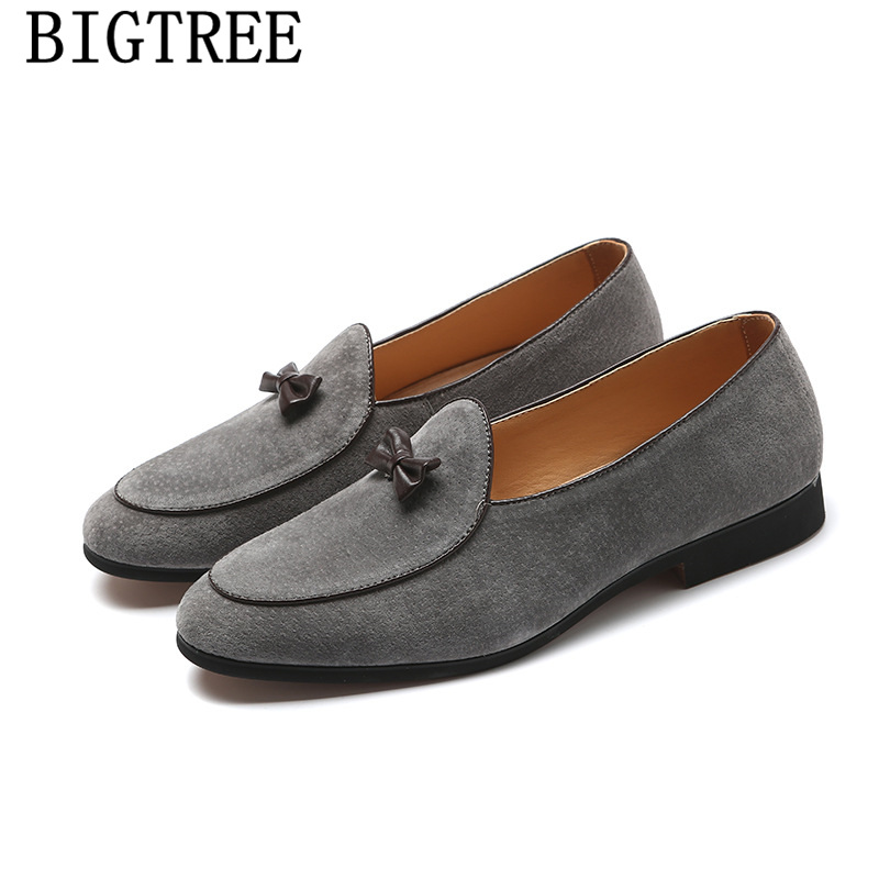 elegant shoes men classic dress loafers men brand shoes moda italiana   suede     leather   shoes men formal mocassim masculino couro