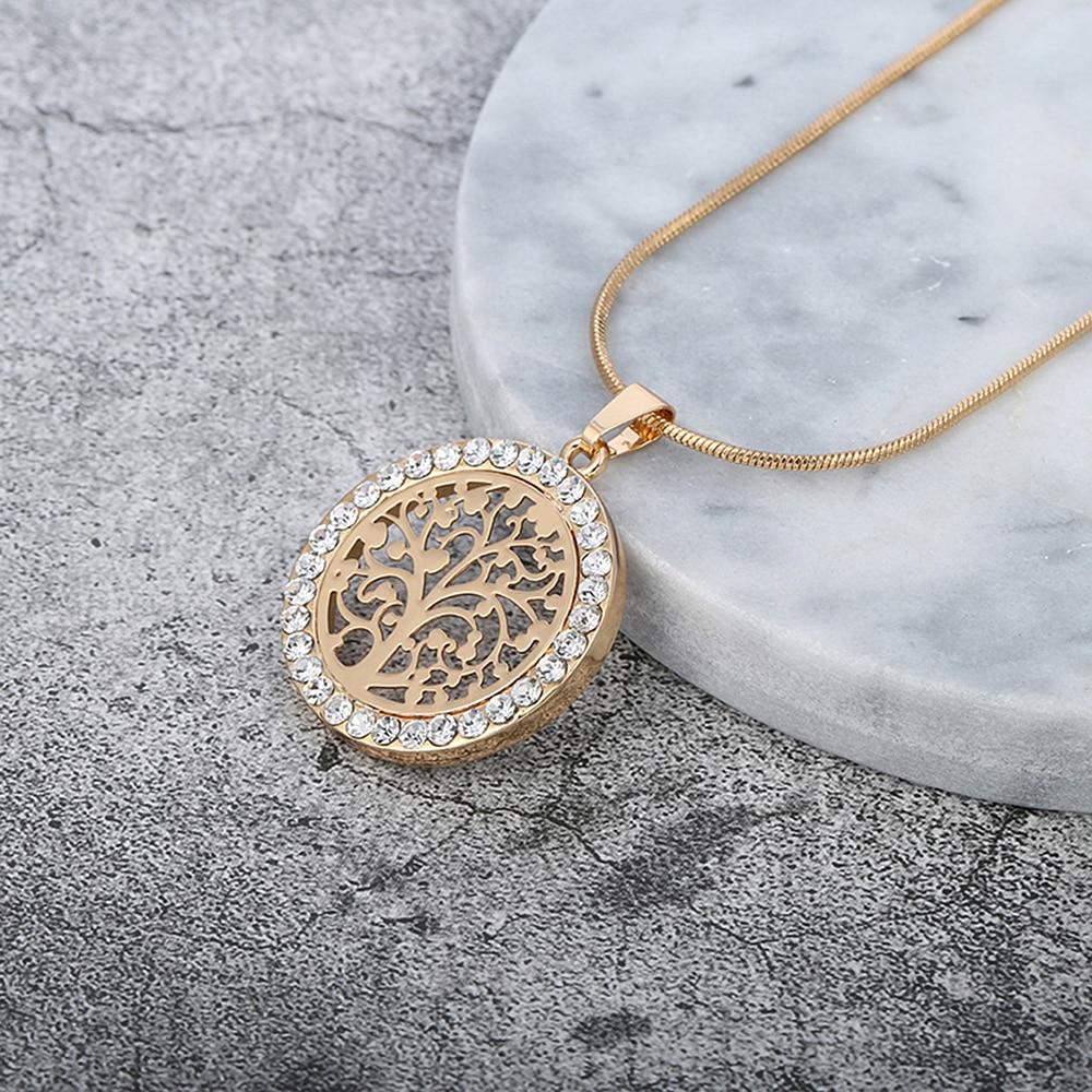 Drvo Život Privjesak Ogrlica Žene Nakit 2018 Moda Bižuterija Austrijski Crystal Zlatna Boja Ogrlice i Privjesci XL06979