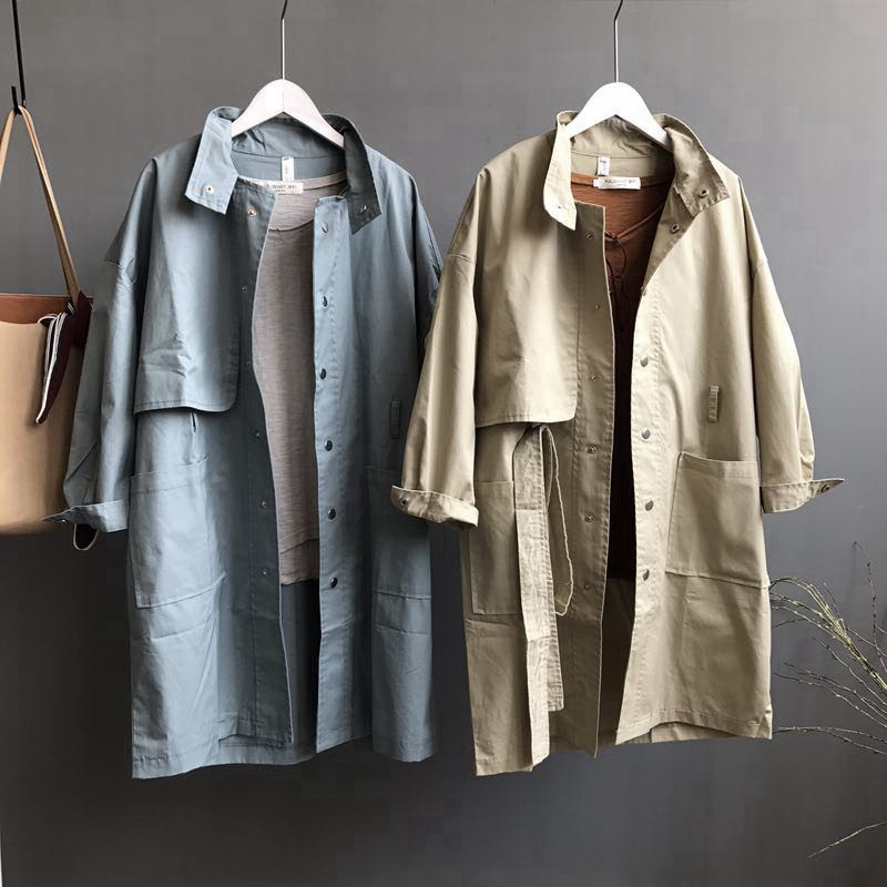 Long Women Coat New Spring BF Style Casual Trench Coat For Women Manteau Femme Single-Breasted Fashion Women Trench Coats C5206