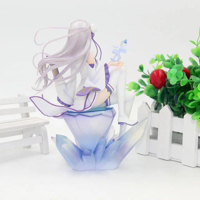 Zero kara Hajimeru Isekai Seikatsu Action Figures Emilia Collectible Model Toy Anime Life in a different world from zero