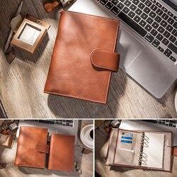 Cuaderno de negocios Yiwi preventa de cuero genuino Personal planificador diario semanal Agenda organizador regalos papelería A6