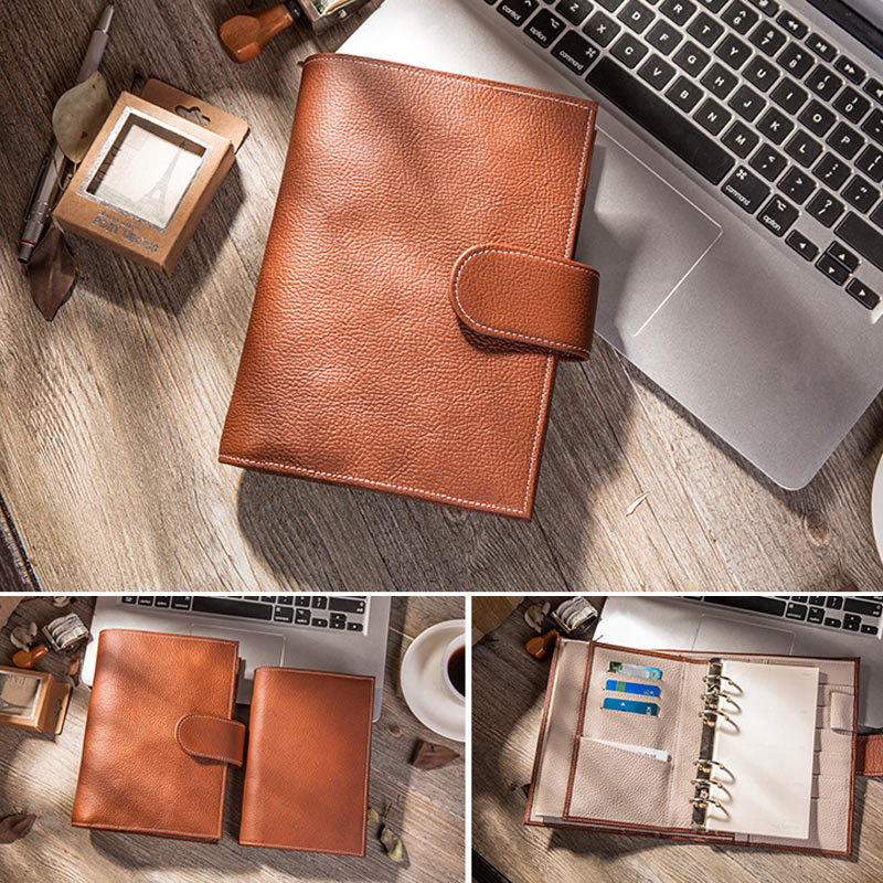 Presale 2018 Yiwi Notebook Business Genuine Leather Personal Day Planner Diary Weekly Agenda Organizer Gifts Stationery A6 never sweet pink diary a6 spiral notebook agenda 2018 personal weekly planner chancellory school supplies korean gift stationery