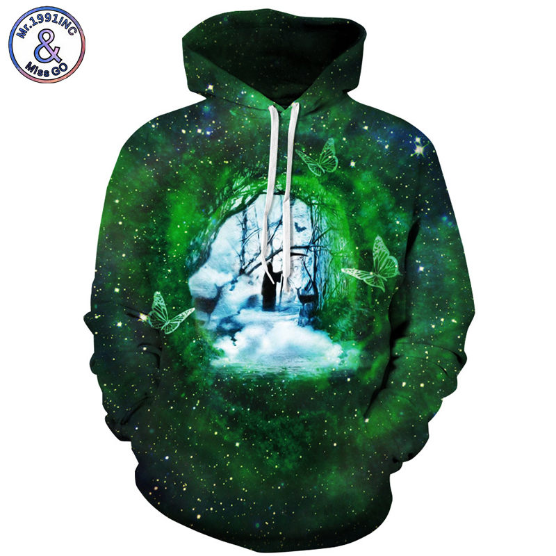 Mr.1991INC Death god Print Star Sky Hooded Hoodies Men Sweatshirt Europe America Hot 3D Sweatshirts Casual Pullovers M137
