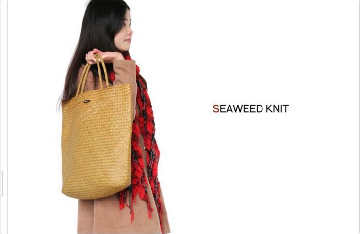 Kinesisk Immateriell Kulturarv Willow Straw Bag Stor Stro Handväskor - Väskor för bagage och resor - Foto 1