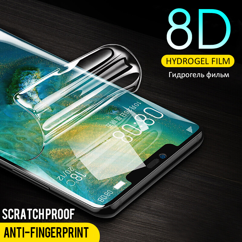 8D Full Cover Hydrogel Screen Protective Film For Huawei P10 P20 Lite P20 Pro Protector for Honor 9 Lite Mate 10 20 Not Glass