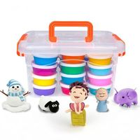 24pcs Colored Clay Plasticine Modelling Kit Clay Air Dry Light DIY Sand Slime Soft Creative Play