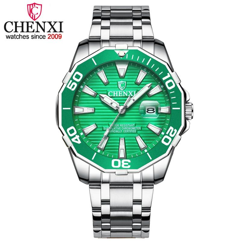 CHENXI Men Fashion Dial Calendar Display Quartz Watch Business Luxury