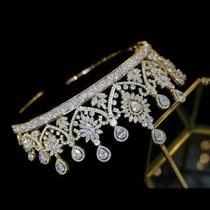 Image 5 - Nuevas Tiaras De boda De lujo para mujer, forma grande, corona, accesorios para el cabello