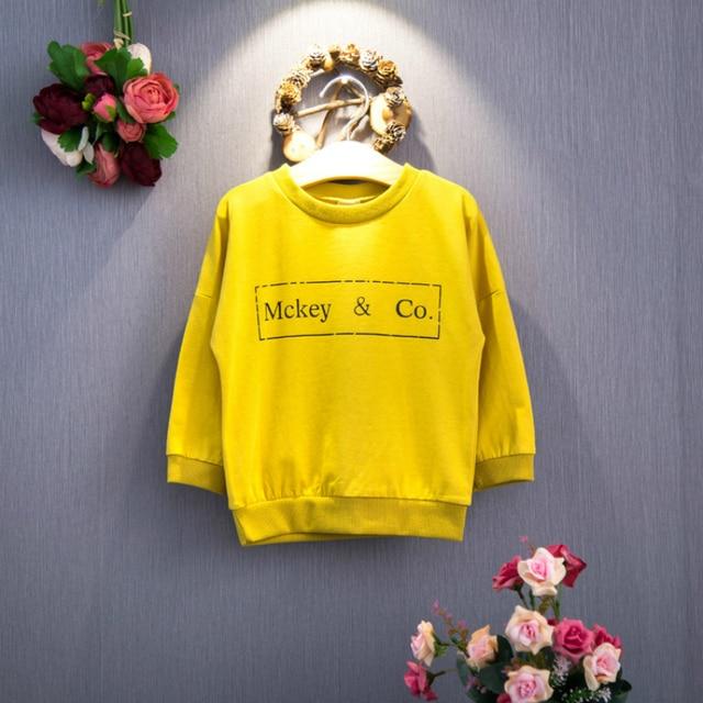 2016 Новой детской Одежды Корейской Версии Мода Мультфильм Свитер Детей Микки Короткий Параграф Свитер для Бесплатной Доставкой