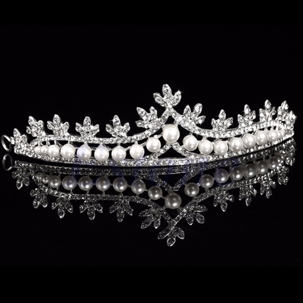 HTB1OgQXLpXXXXavXXXXq6xXFXXXh Luxurious Bridal Prom Cosplay Rhinestone Crystal And Pearl Princess Tiara