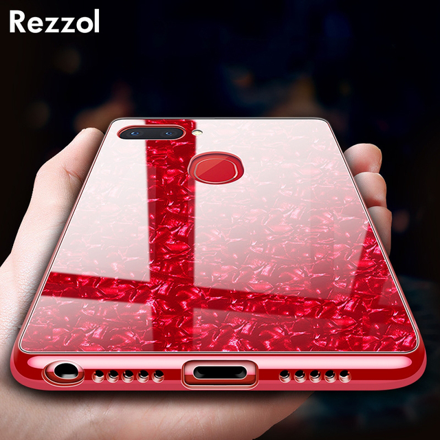 newest collection fd01c a82d3 US $4.99 |Rezzol Bling Shell Tempered Glass Case For OPPO F9 Silicone Frame  Hard Cover Case For OPPO F9 Pro Cute Girls Glass Phone Coque-in Fitted ...