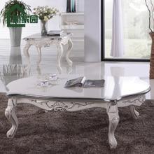 Cheap European American home coffee table carved wood high-end teasideend