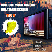 5x3 м 16:9 гигантские надувные фильм Экран открытый проектора фильм Кино Театр на заднем дворе + 110/220 В надувные воздуходувки