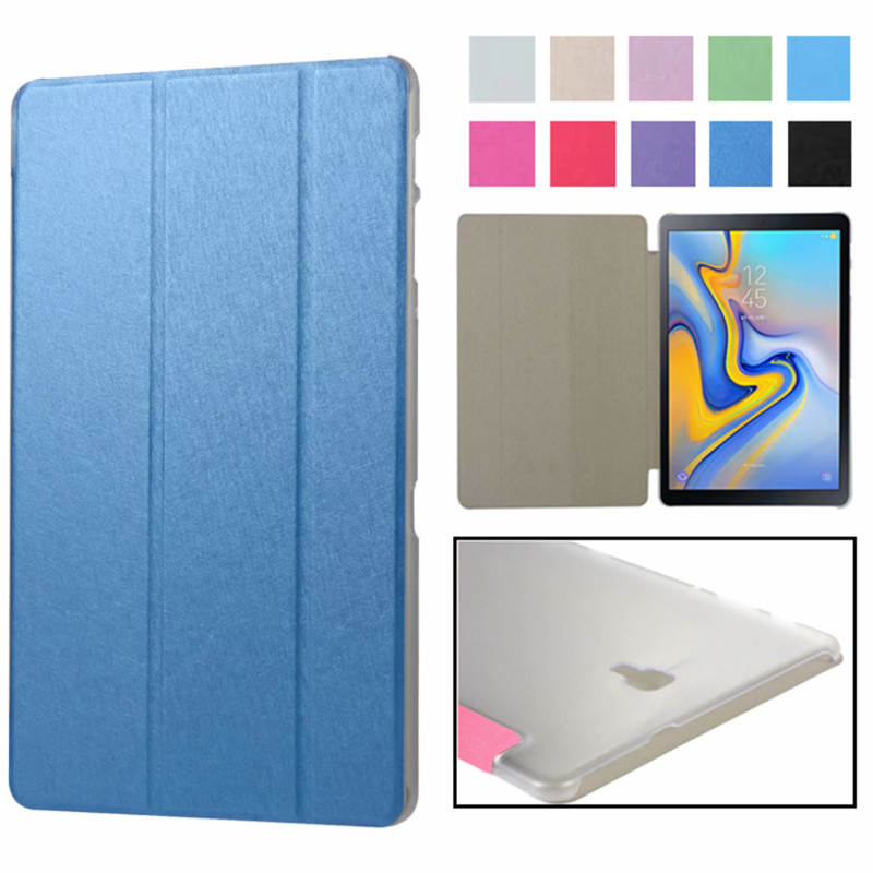 Case For Samusng Galaxy Tab A A2 10.5 Inch 2018 SM-T590 T595 T597 Cover Flip Tablet Cover Leather Smart Magnetic Stand Shell