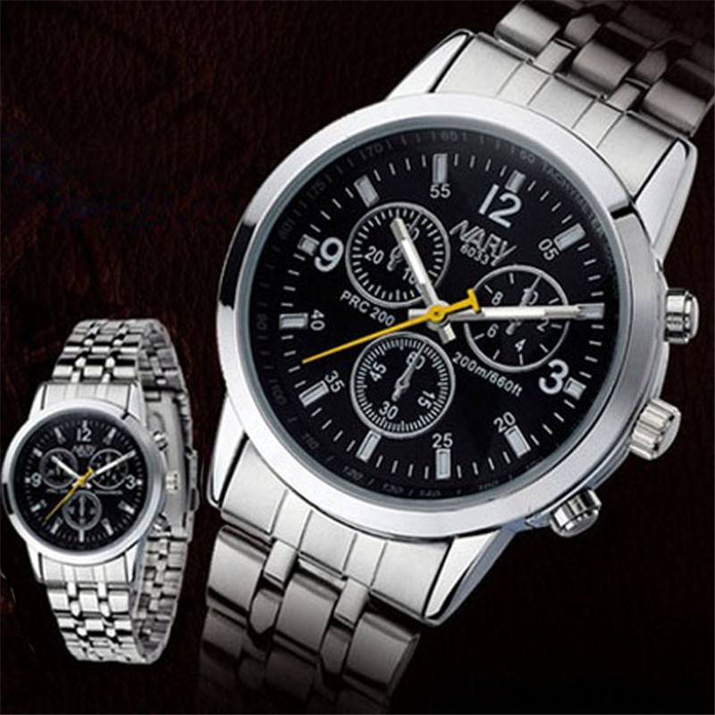 2017 Luxury Fashion Men Watches 1PC Luxury Waterproof Stainless Steel Quartz Women Wrist ...