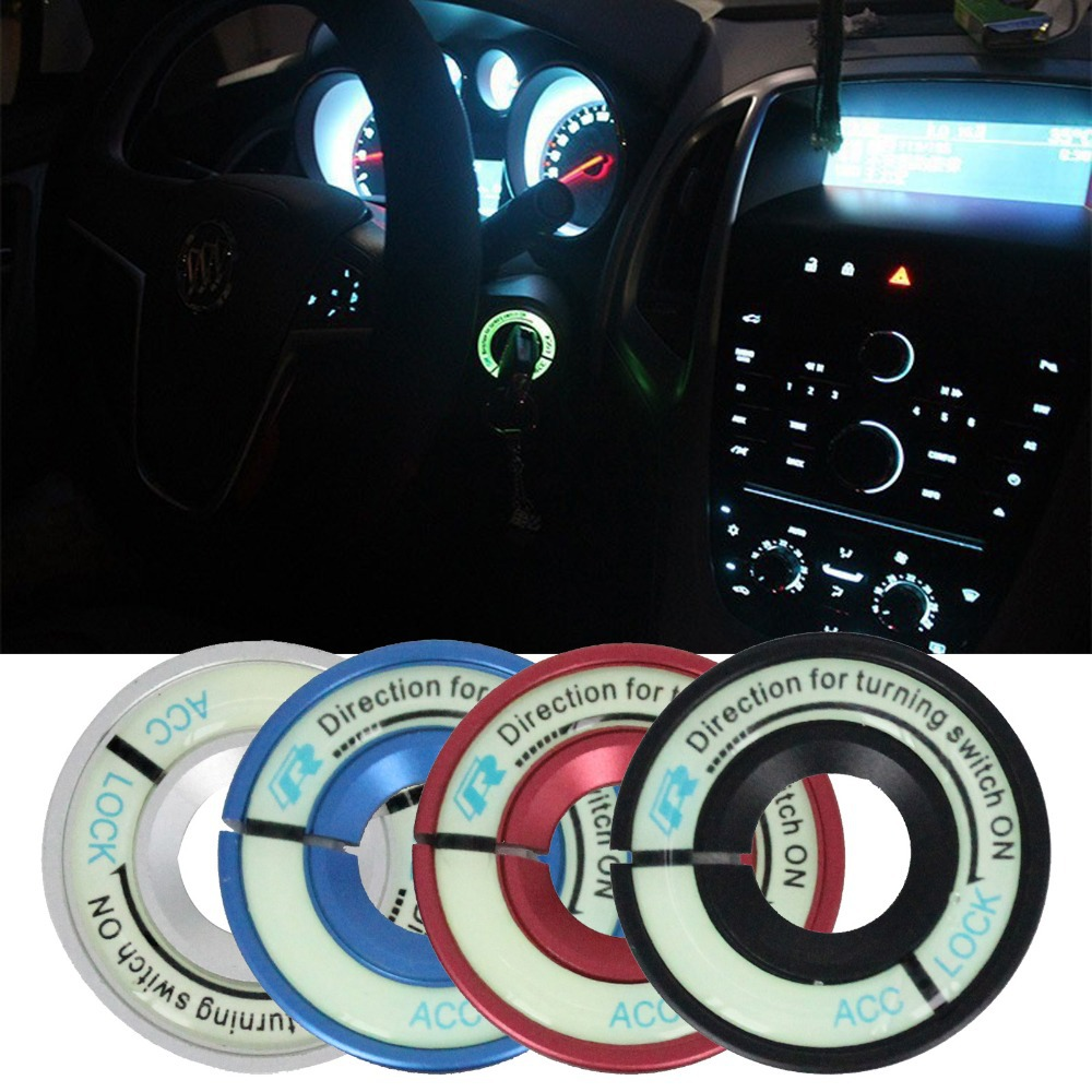Car Luminous Ignition Switch Decoration Stickers Key Hole Protection Circle For VW Golf Polo Passat Audi Ring Cover circle