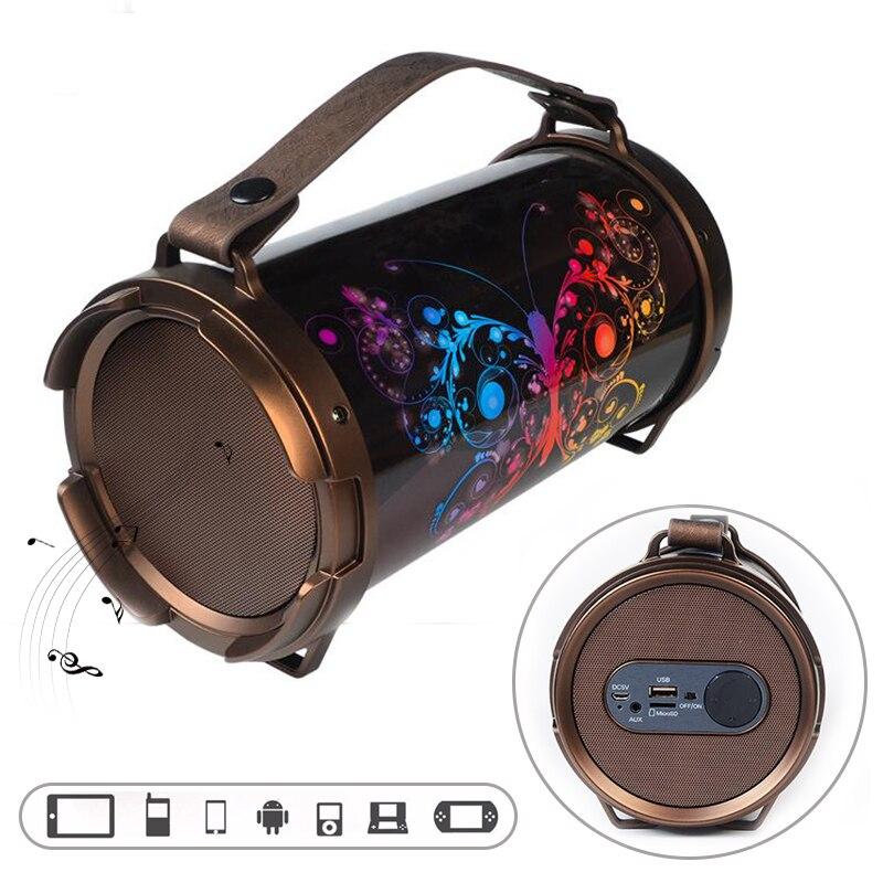 Outdoor Sport Super Bass Wireless Bluetooth Speaker Portable Subwoofer Bluetooth Hifi System Music Surround Carving Speaker