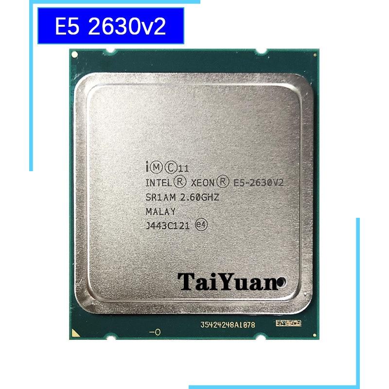 Процессор Intel Xeon E5 2630V2 E5 2630v2 E5 2630 v2 2,1 GHz шестиядерный процессор с 12 резьбой 15 M 80 W LGA 2011 Процессоры    - AliExpress