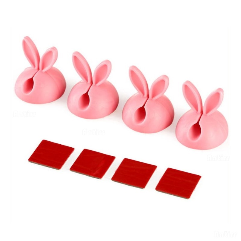 Consumer Electronics 4pcs Cute Rabbit Ears Cable Winder Collation Holder Bunny Charger Wire Cord Organizer Clip Tidy Desk Earphone Fixer Bobbin Clamp