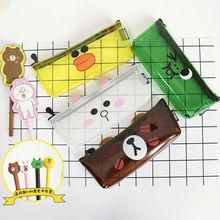Creative transparent Pencil Case kawai pen bag school office supplies high quality cute funny birthday gift send children