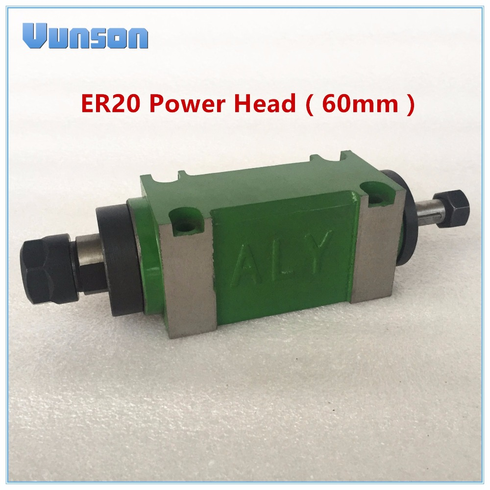 ER20 Collet Chuck 750W 0 75KW 1hp Power Head 60mm Cutting Boring Milling machine Tool Spindle