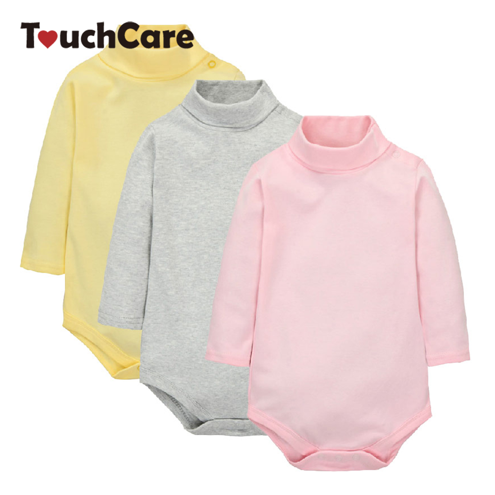 Newborn Winter Cotton Baby Boy Girl Rompers Infant Solid Turn-down Collar Jumpsuit Candy Color Long Sleeve Roupa De Bebe Clothes cotton baby rompers infant toddler jumpsuit lace collar short sleeve baby girl clothing newborn bebe overall clothes