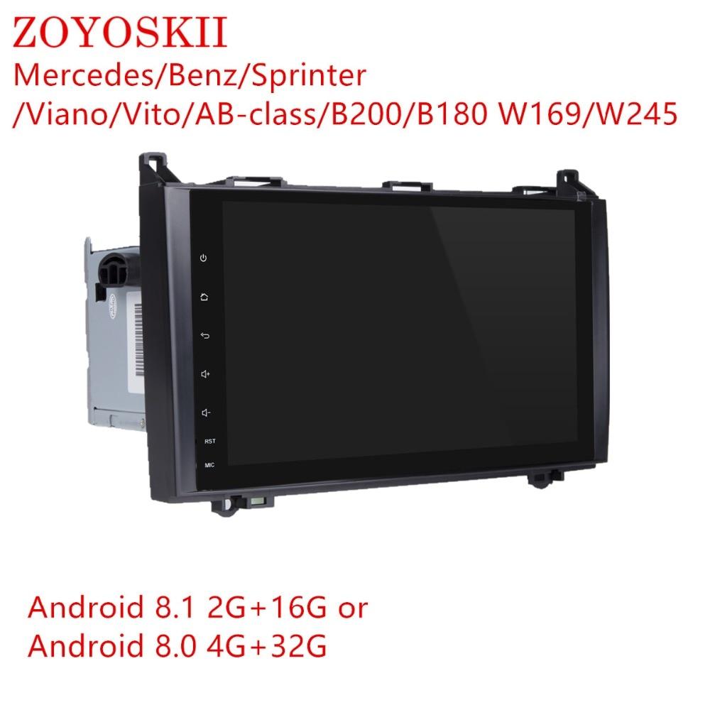 ZOYOSKII Android 8.0 8.1 9inch CAR Radio GPS bluetooth for Mercedes Benz  Sprinter A Class B200