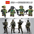 4 unids CS Squad Navy Seal Team Army Swat Policía SWAT Constructor City Riot Shield figuras Bloques Juguetes P01