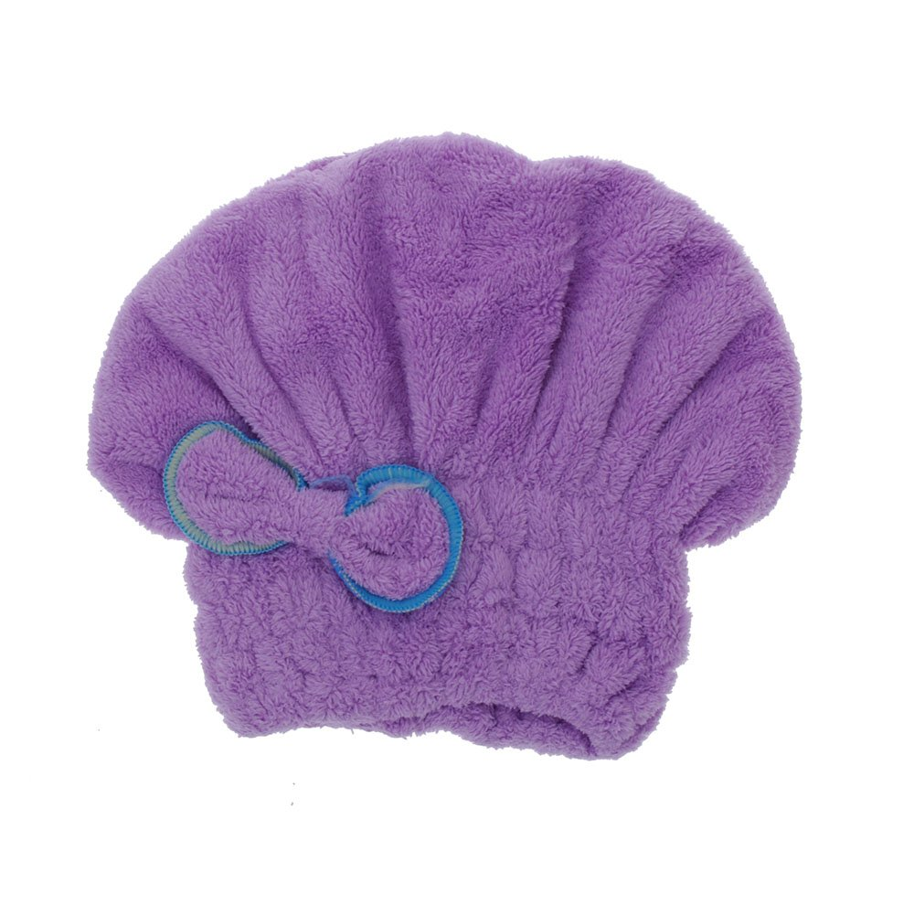 Полезные микрофибры сухие волосы шляпа быстро высушить волосы рулонных полотенец крышка (фиолетовый) ...