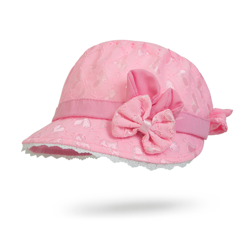 Lace Hollow Girls Sun Cap Summer Princess Bow Baby Hat Toddler Kid Beach Sun Hat